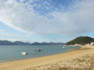 向島・砂浜